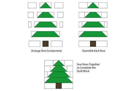 pattern block christmas tree easy patchwork christmas tree quilt block pattern