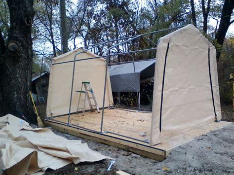 shelterlogic autoshelter  portable garage  tan