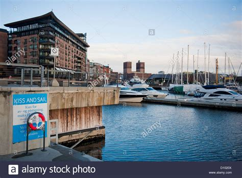 pier x oslo quot kiss sail quot landing pier at aker brygge s waterfront in