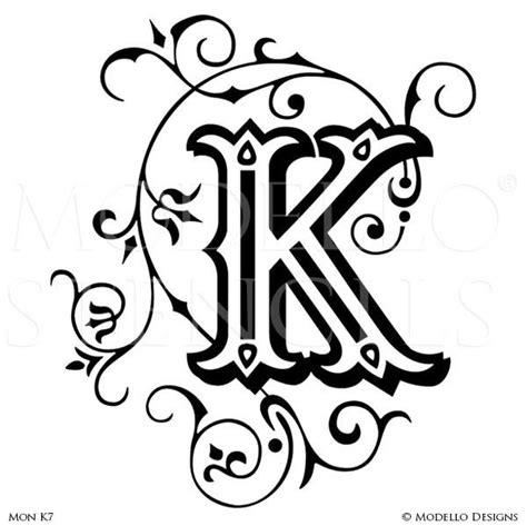 decorative lettering templates monogram stencils modello 174 designs