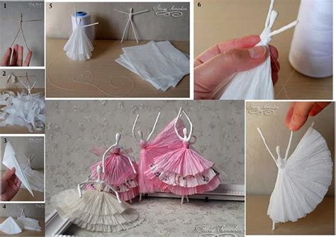 How To Make Things Out Of Paper Napkins - paper napkins ballerina alldaychic