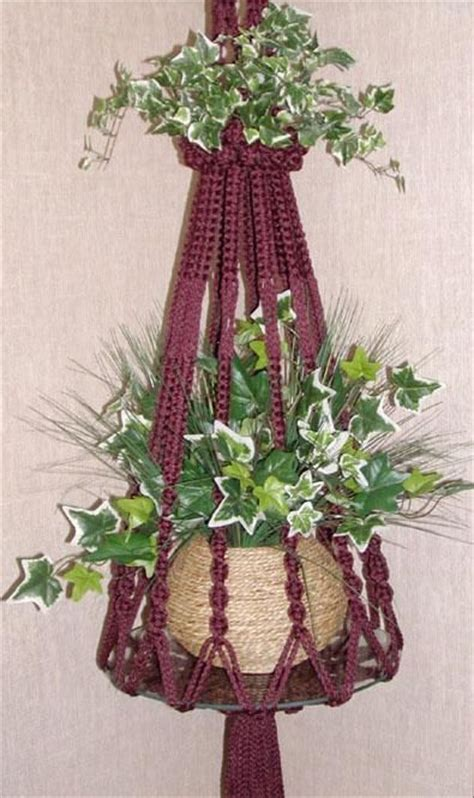 Macrame Pot Holder Pattern - 1000 ideas about macrame plant hanger patterns on