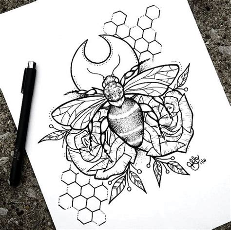 hand poke tattoo portland or 43 best bee outline tattoos images on pinterest bee