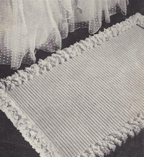 crochet bathroom rug vintage crochet pattern to make scatter throw rug bath mat