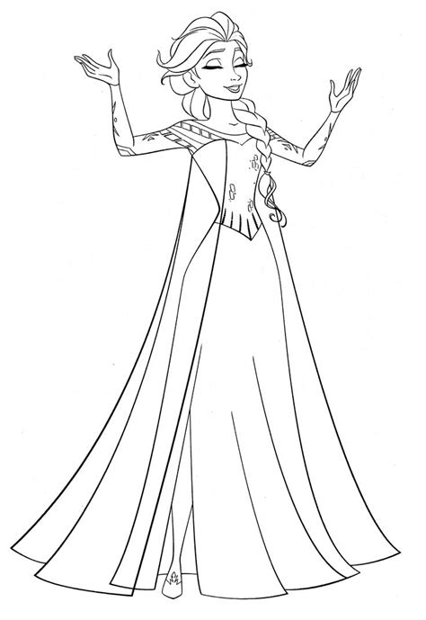 Coloring Page Elsa And by 17 Best Images About Coloring Pages On Frozen
