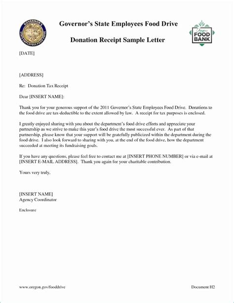 church donation letter tax purposes template clean