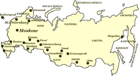 russia map showing cities map of russia pictures of russia
