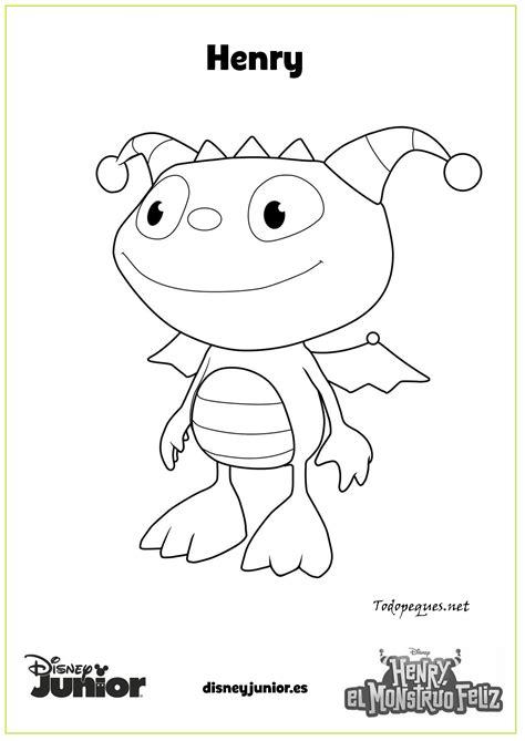Imagenes Para Colorear Henry Monstruito | dibujos para colorear de henry el monstruito feliz todo