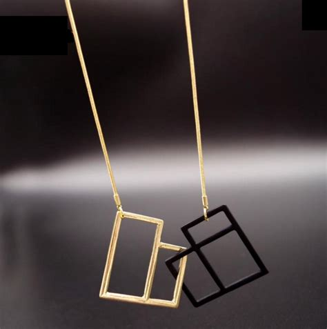 Weide Chain Silver geometric shape necklace