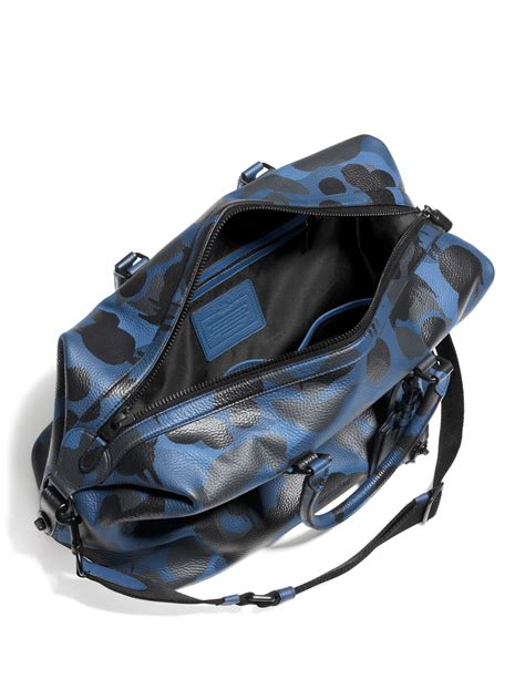 Flypower Pouch Bag Black lyst coach explorer camo print leather duffle bag in blue
