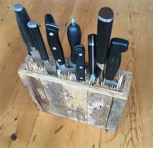 kitchen knives storage diy or buy kitchen knife holder improvised