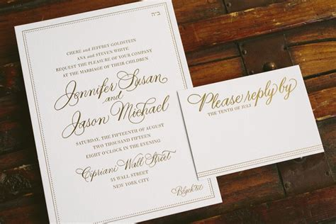 Simple Gold Wedding Invitations by Simple And Sophisticated Gold Foil Wedding Invitations