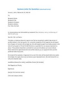 Business Letter Sample For Quotation best photos of business quotation format examples business letter