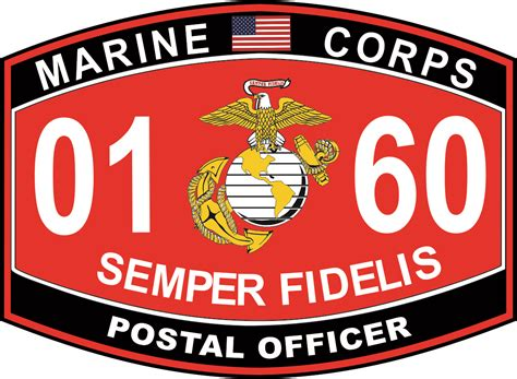 Marine Corps Officer Mos postal officer marine corps mos 0160 decal