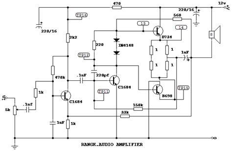Rangkaian Mixer Audio pesawat radio penerima komed
