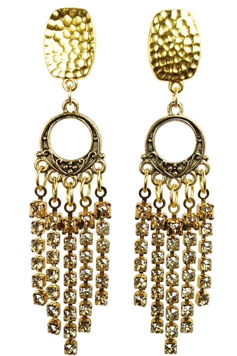 Dangle Earring swarovski rhinestone crystals clip dangle earrings my
