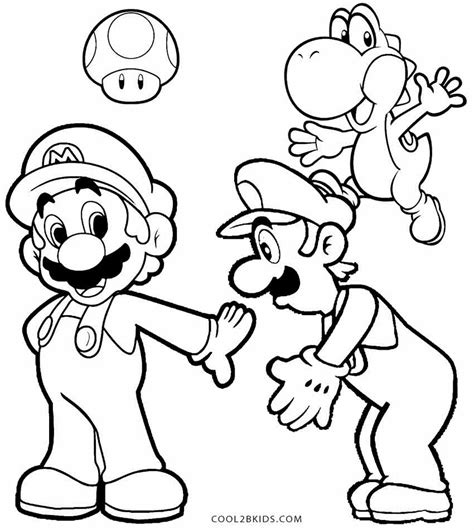 mario coloring printable luigi coloring pages for cool2bkids