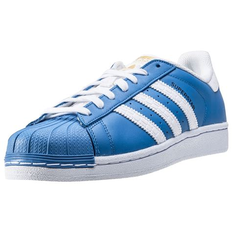 adidas superstar mens trainers  blue white