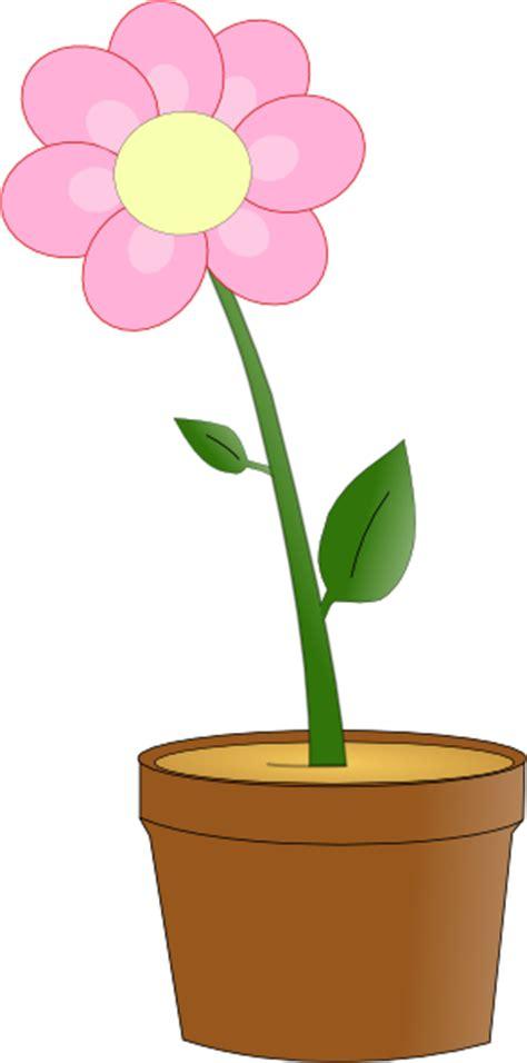 pink flower  pot clip art  clkercom vector clip art