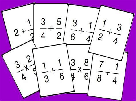 imagenes matematicas de fracciones bingo matem 193 tico de operaciones con fracciones nivel i