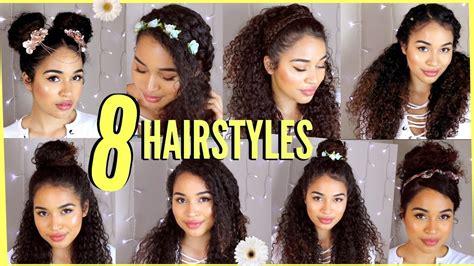 springsummer hairstyles  naturally curly hair