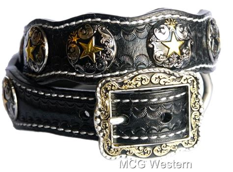 western collars western genuine leather collar w concho ebay