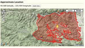 current wildfires in colorado map