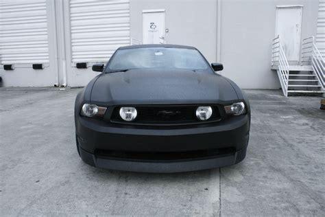matte black car ford mustang matte black car wrap fort lauderdale florida