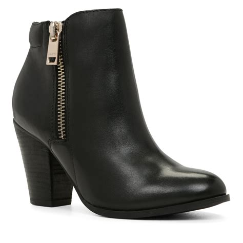 boots s aldo janella zip ankle boots in black lyst