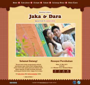 theme line unik undangan pernikahan online murah