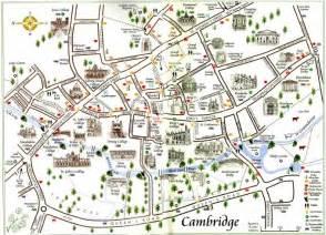 Cambridge England Map by Map Cambridge Tourist Information
