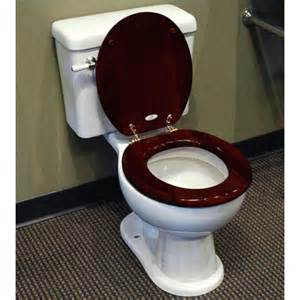 Home bathroom luxury toilet seat mahogany