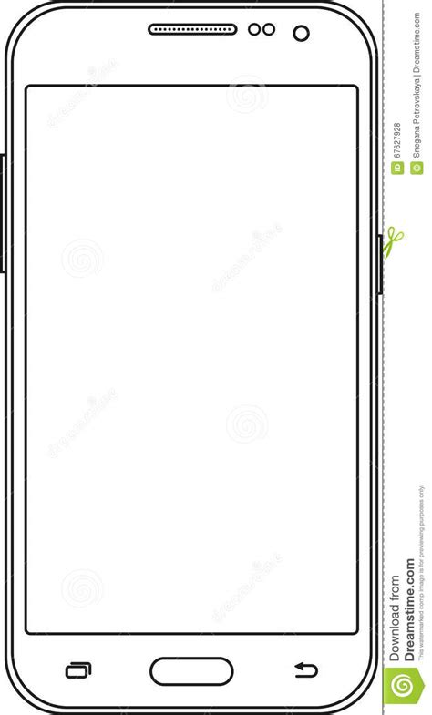 doodle draw windows phone outline drawing smartphone thin line style design