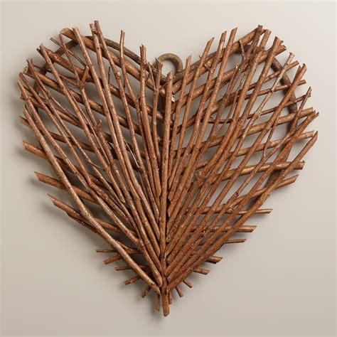 twig wall decor twig heart wall decor world market