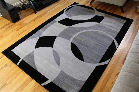 Gray Area Rugs Contemporary 1052 Gray Black 5x7 8x10 Area Rugs Carpet Contemporary New Modern Ebay