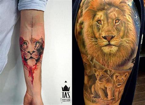 imagenes de leones a color tatuajes de leones para hombres mujeres y sus diferentes
