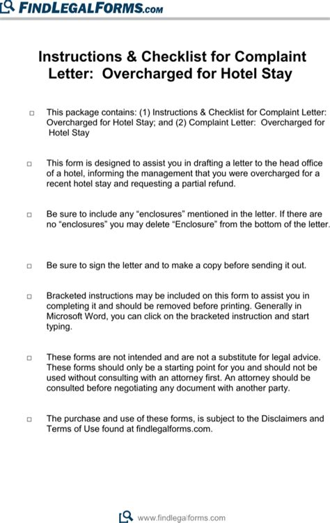 Complaint Letter Hotel Overcharge hotel complaint letter for free page 2
