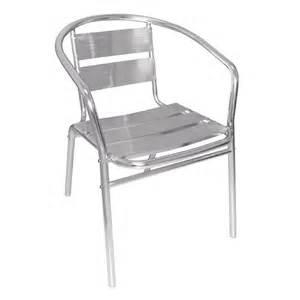 fauteuils empilables en aluminium