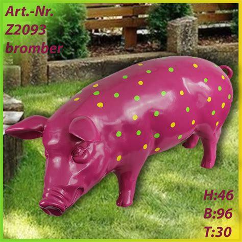 bunte schweine für den garten bunte tiere figurendiscounter shop