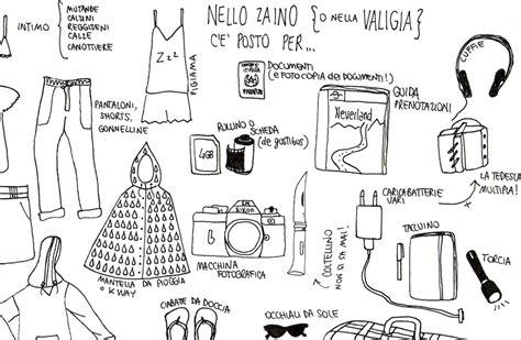 cose da portare in valigia cosa mettere in valigia liste scaricabili illustrazioni