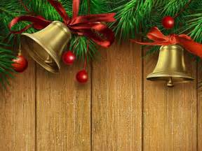 Christmas bells happy new year ribbon backgrounds for powerpoint