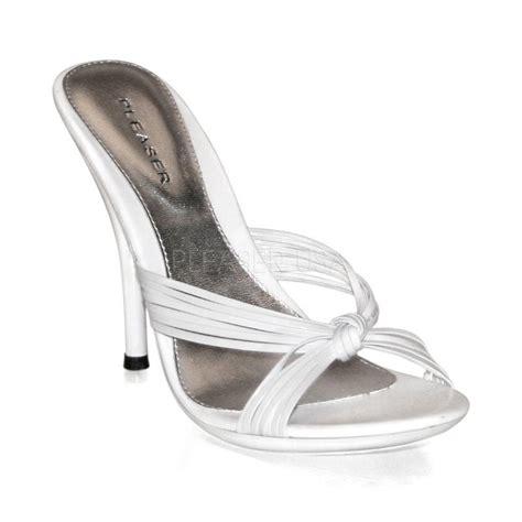 white high heel mules high heel sandal stiletto mule bronze black white eclair 02