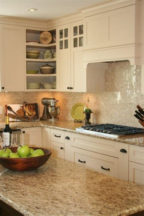giallo ornamental granite with backsplash giallo ornamental granite with glass tile backsplash fave