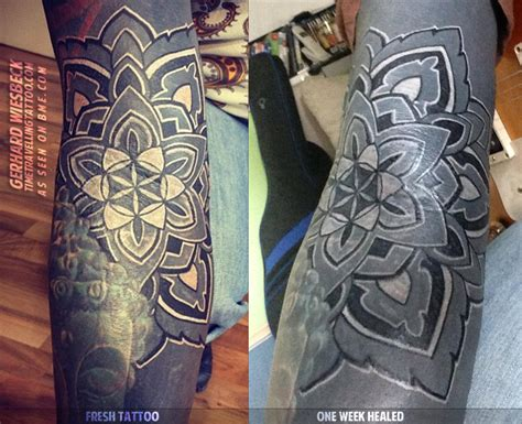 white over black tattoo white and black tattooing healed blackwork bme
