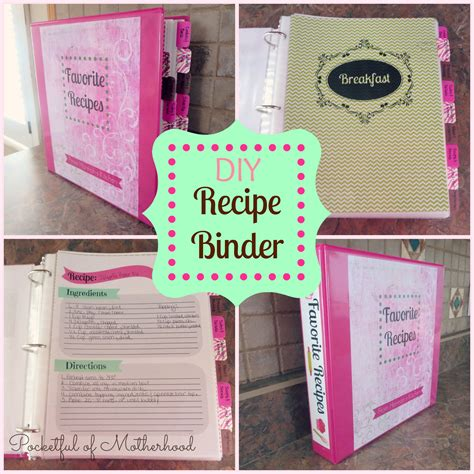 Handmade Cookbook - diy recipe binder pocketful of motherhood