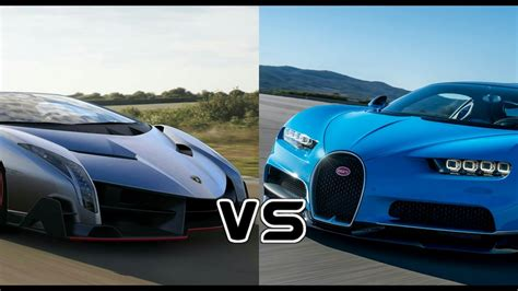 modified bugatti bugatti chiron vs lamborghini veneno racing comparison