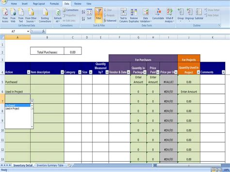 Inventory Tracker Excel Inventory System For Small Business Running Inventory Excel Template