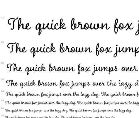 the fox jumped the lazy charcuterie cursive fonts