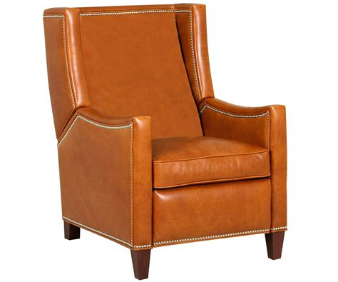 Leather Wingback Chair With Nailhead Trim by Heywood Wing Back Leather Recliner With Nailhead Trim