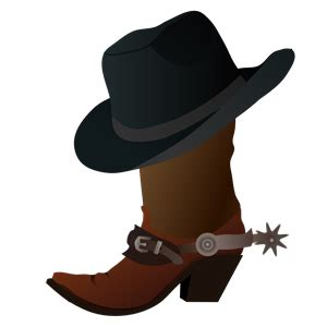 country clipart cowboy boot and hat clipart cliparts of cowboy boot and